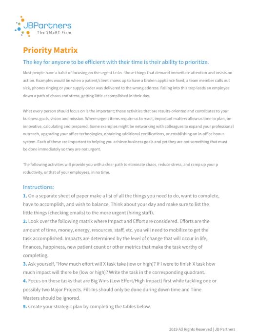 Priority Matrix